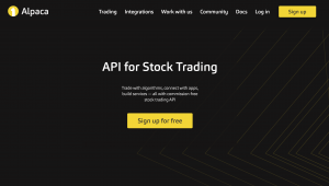 Alpaca Trading Homepage Image