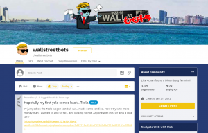 Wallstreetbets Homepage Screenshot