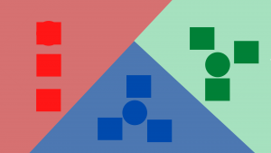 Shapes categorised by colour